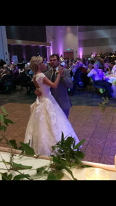 Uplighting with first dance at a wedding.