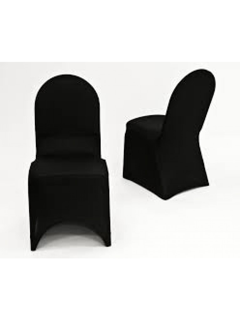 Black Spandex Chair Cover | Summit City Rental