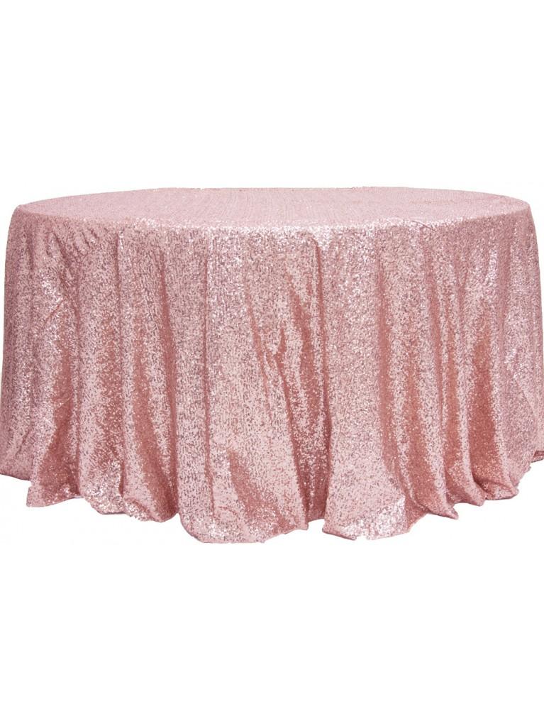 Dusty Rose Sequin Linen Rental | Summit City Rental