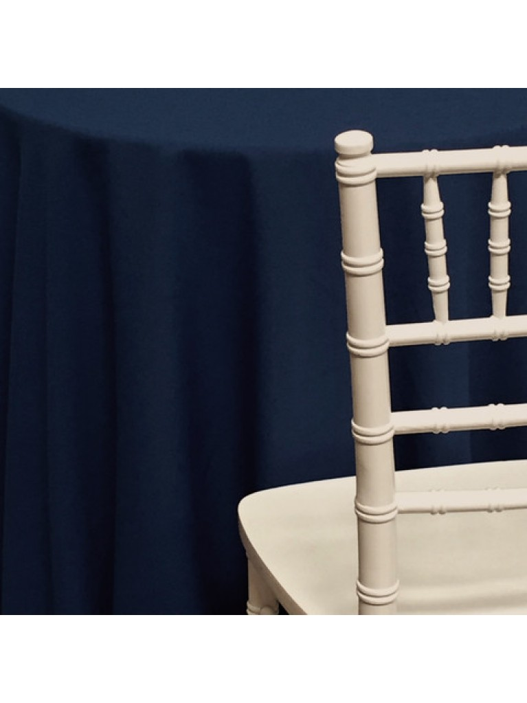 "120"" Round Table Linen Rental Navy Blue"