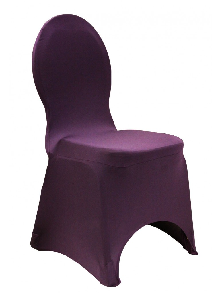 Plum Spandex Chair Cover | Summit City Rental