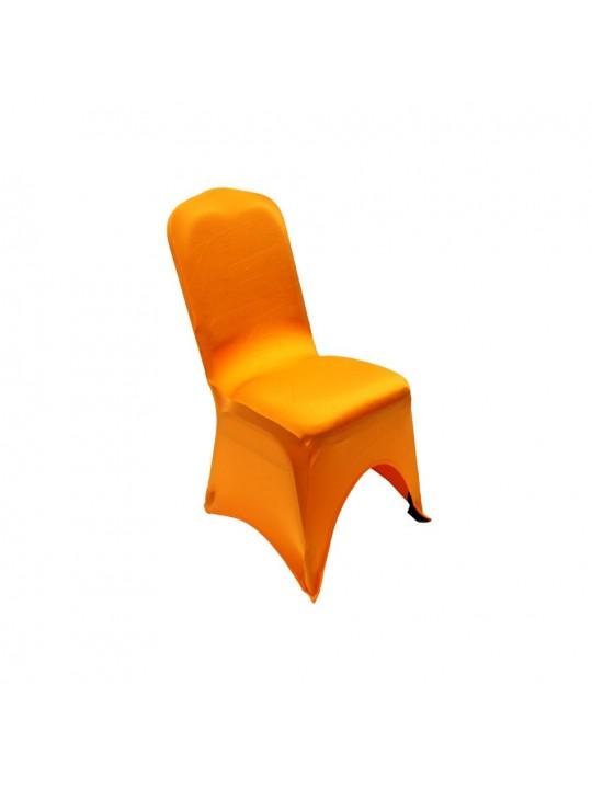 Summit City Rental   Orange Spandex Chair Cover