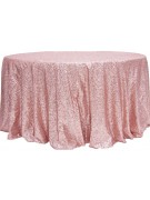 Dusty Rose Sequin Linen Rental   Summit City Rental