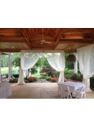 Ivory Chiffon Drape - 10 Foot Long - Summit City Rental